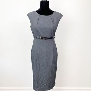 Calvin Klein professional belted dress